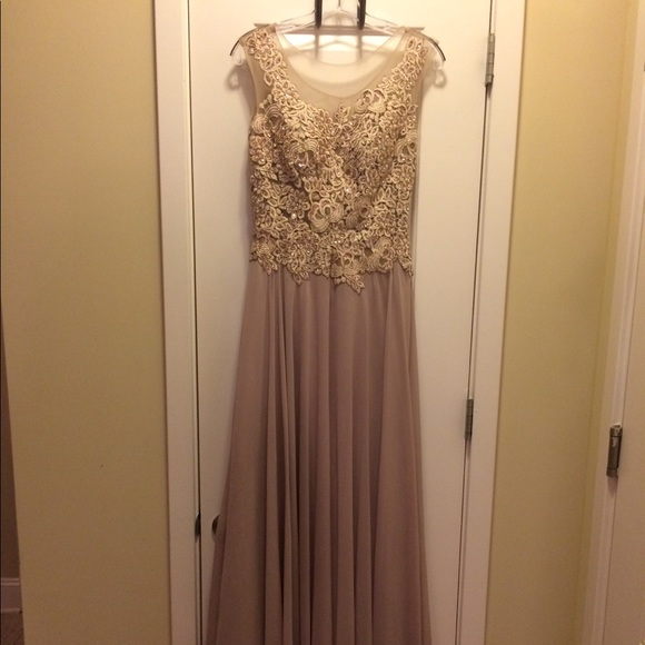Cinderella Dresses & Skirts - Taupe and Blush Formal Dress